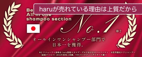 haruシャンプーの口コミブログ