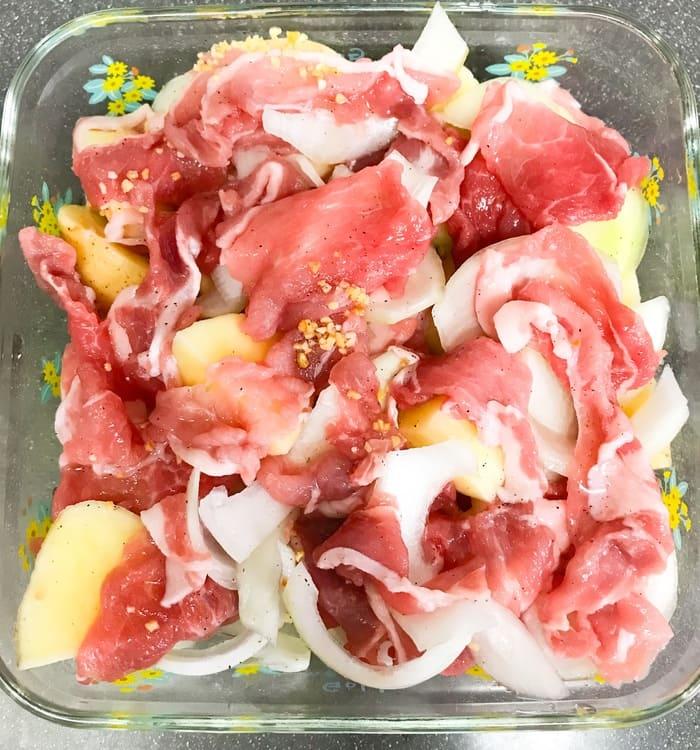 山本ゆりレンジレシピ本 塩肉じゃが作り方