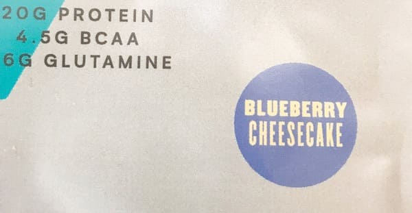 マイプロテイン ブルーベリーチーズケーキ味の感想ブログ